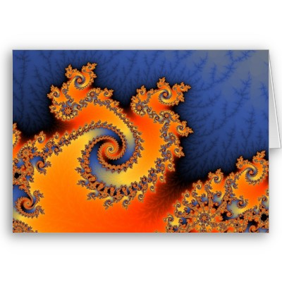 Hot Cold Triple Twirl Greetings Card