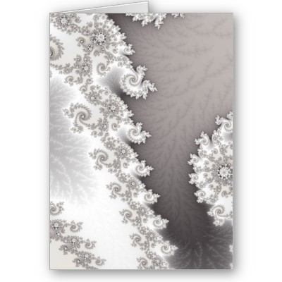 Silver Lines Greetings Card