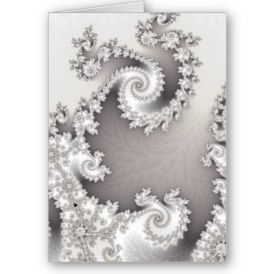 Silver Double Spiral Greetings Card