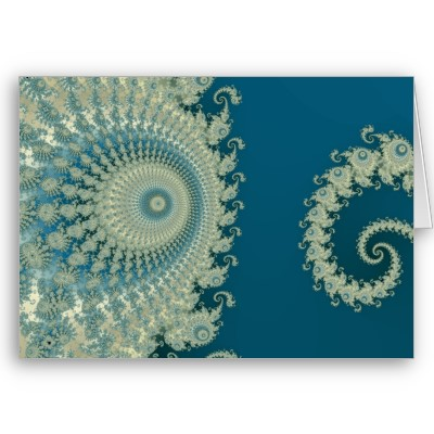 Seaside Spirole Greetings Card