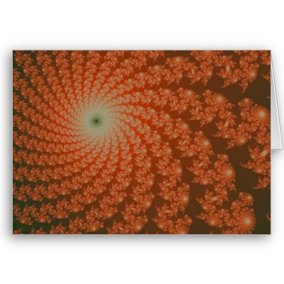 Olive Whirlpool Greetings Card