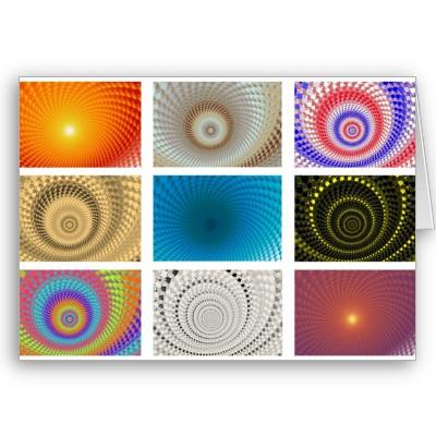 Tableau of Circles Greetings Card