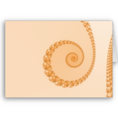 Gold Simple Spiral Greetings Card