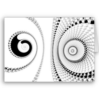 Spirole Greetings Card