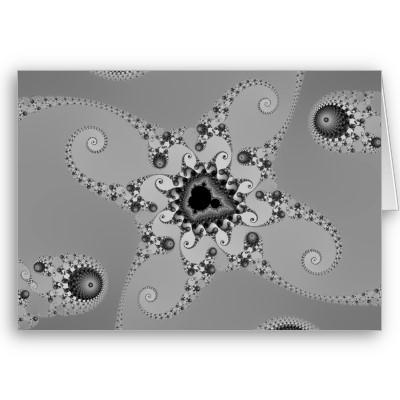 Grey Octopuses Greetings Card