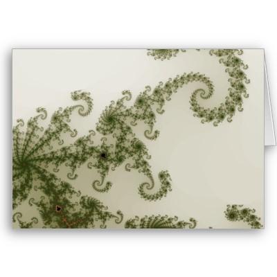 Olive Smoke Greetings Card