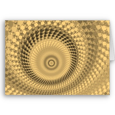 Sepia Roundalls Greetings Card
