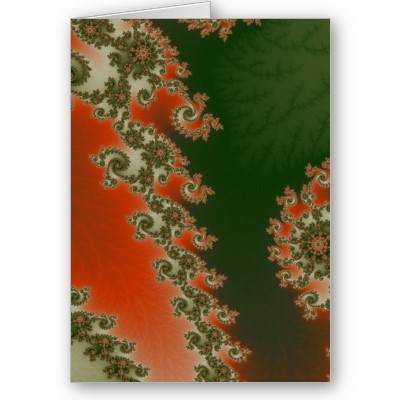 Pimento Olive Lines Greetings Card