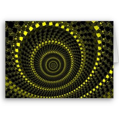 Yellow Circles Greetings Card