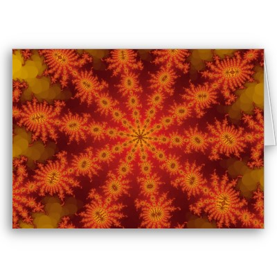 Red Orange Decasteer Greetings Card