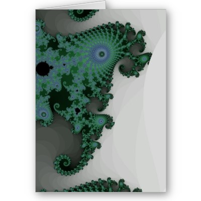 Emerald Seahorse Greetings Card