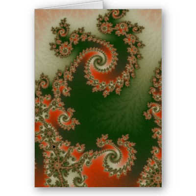 Pimento Olive Double Spiral Greetings Card