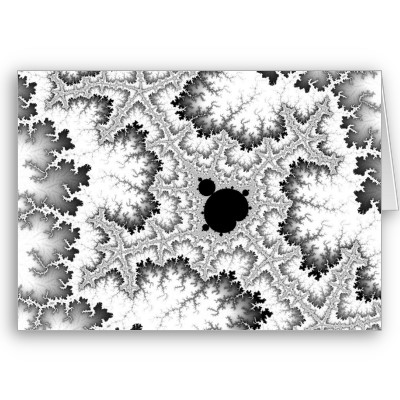 Black Coral Greetings Card