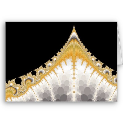 Silver and Gold Volcano Greetings Card