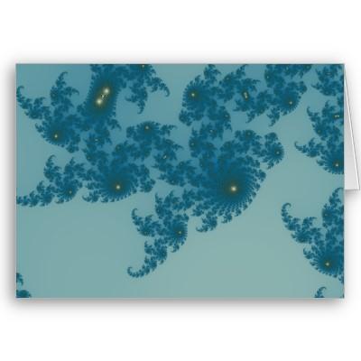 Underwater Ferns Greetings Card