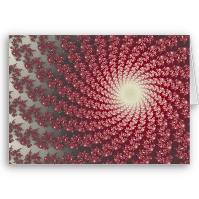 Smooth Red Whirlpool 2 Greetings Card