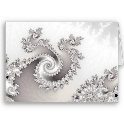 Silver Triple Twirl Greetings Card