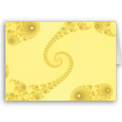 Yellow Gold Double Spiral Greetings Card