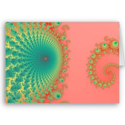 Rainbow Spirole Greetings Card