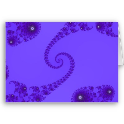 Blue Purple Double Spiral Greetings Card