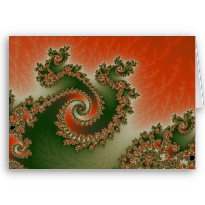 Pimento Olive Triple Twirl Greetings Card