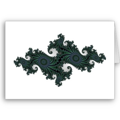 Emerald Seahorse Julia Greetings Card