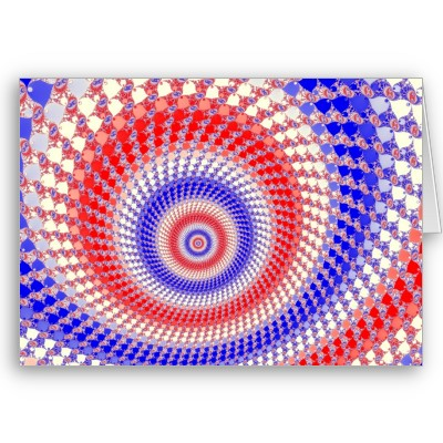 Tricolour Roundalls Greetings Card