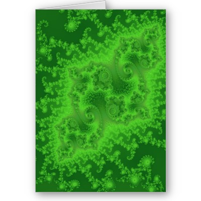 Electric Green Jellyfish Greetings Card