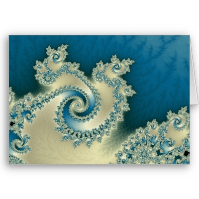 Beach Triple Twirl Greetings Card