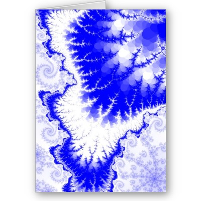 Blue Feathered Star Greetings Card