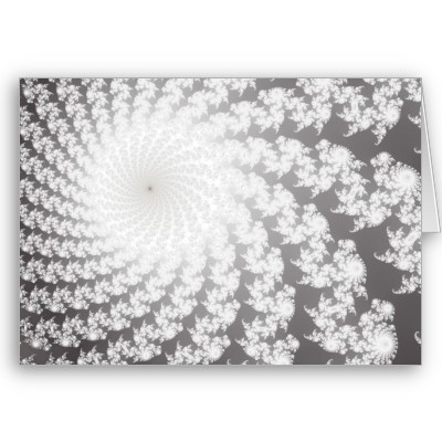 Silver Whirlpool Greetings Card