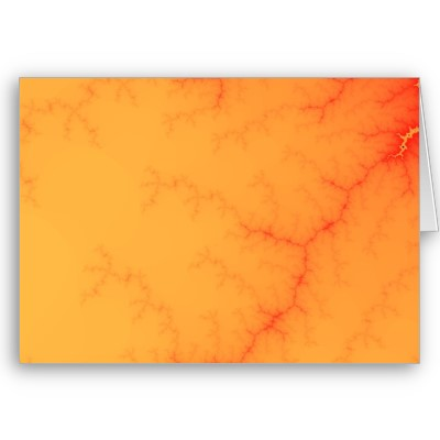 Tangerine Capillary Greetings Card