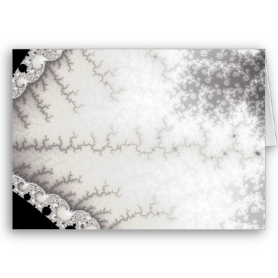 Silver Zigzag Greetings Card