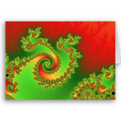 Christmas Triple Twirl Greetings Card