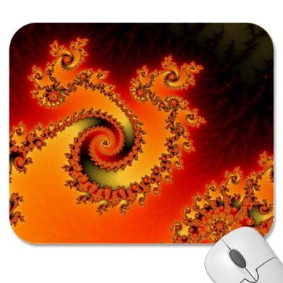 Flame Triple Twirl Mousepad