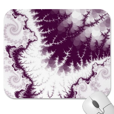 Plum Feathered Star Mousepad
