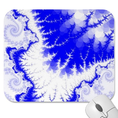Blue Feathered Star Mousepad
