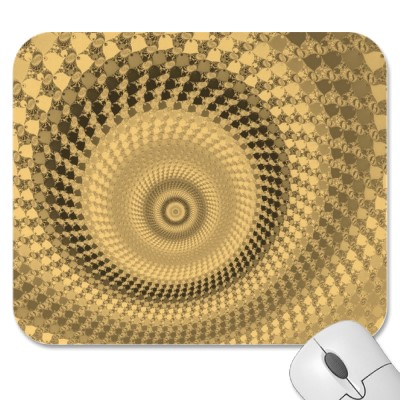 Sepia Roundalls Mousepad