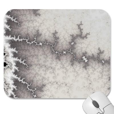 Silver Fault Line Mousepad