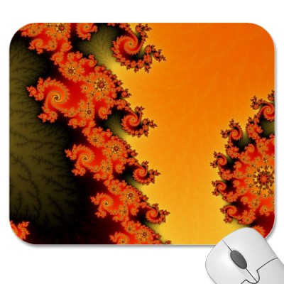 Flaming Lines Mousepad