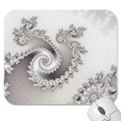 Silver Triple Twirl Mousepad