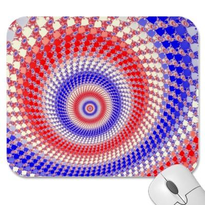 Tricolour Roundalls Mousepad