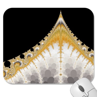Silver and Gold Volcano Mousepad