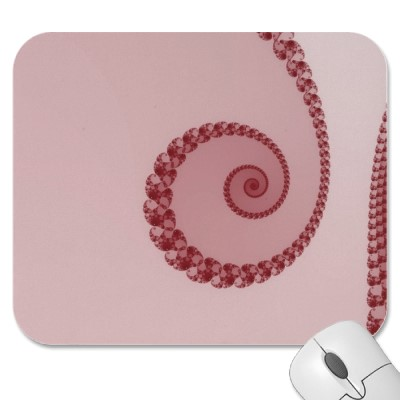 Plum Simple Spiral Mousepad