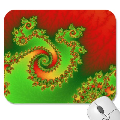 Christmas Triple Twirl Mousepad