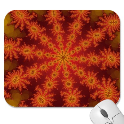 Red Orange Decasteer Mousepad