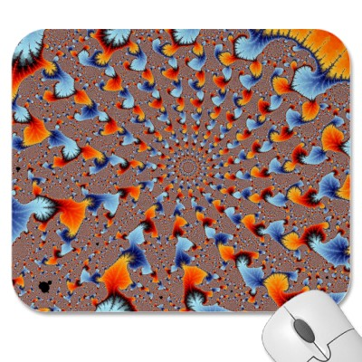 Red and Blue Flames Mousepad