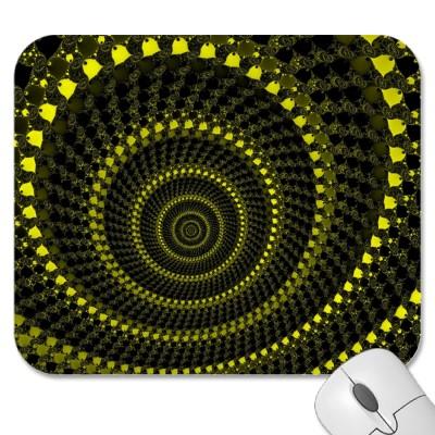 Yellow Circles Mousepad