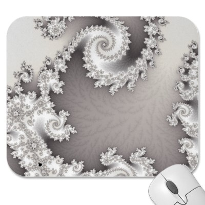 Silver Double Spiral Mousepad