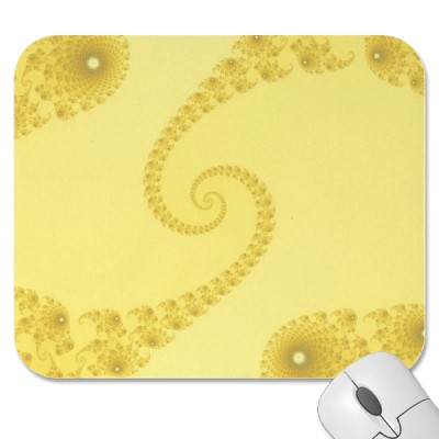 Yellow Gold Double Spiral Mousepad